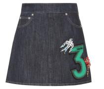 Jeansrock mit Verzierungen
