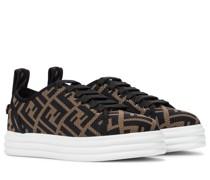 Plateau-Sneakers Rise aus Mesh