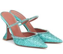 Verzierte Mules Gilda mit Glitter