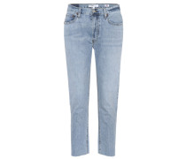 High-Rise Jeans Relaxed Crop Rigid