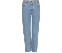 Mid-Rise Cropped Jeans The Original Straight