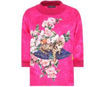 Sweatshirt aus bedrucktem Brokat
