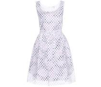 Layering-Kleid aus Lochspitze und Baumwolle