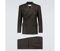 Anzug aus Wolle mit Nadelstreifen