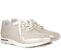 Sneakers My Wind mit Metallic-Leder