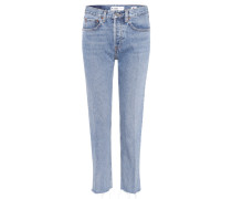 High-Rise-Jeans Stovepipe