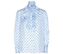 Bluse aus Seidentwill