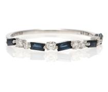 Ring aus 18kt Weißgold mit Saphiren und Diamanten