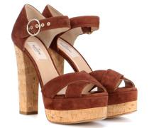 Garavani Sandaletten aus Veloursleder