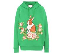 Appliquéd cotton hoodie