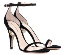 Verzierte Sandaletten Penelope 105 aus Veloursleder