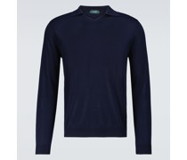 Pullover aus Baumwoll-Crêpe