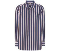 Gestreiftes Hemd Kara aus Baumwolle