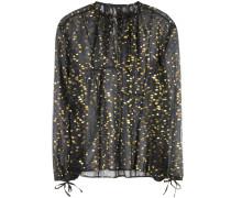 Fil-Coupé-Bluse aus Seidenchiffon