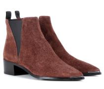 Ankle Boots Jensen Hairy aus Veloursleder
