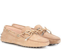 Loafers Gommino aus Veloursleder