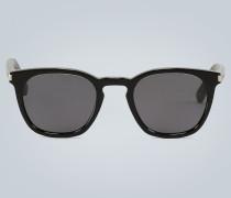 Transparente Sonnenbrille mit Acetat