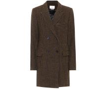 Karierter Mantel Iken aus Wolle