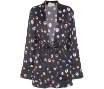 Bedruckte Kimono-Jacke aus Satin