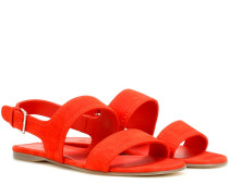 Sandalen Loa aus Veloursleder