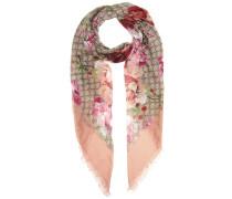 Bedruckter Schal mit Seidenanteil