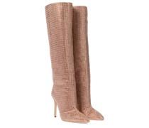 Verzierte Stiefel Holly aus Veloursleder