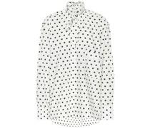 Bluse aus Baumwolle mit Polka-Dots