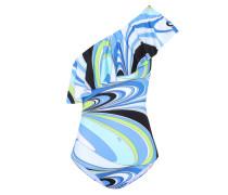 Asymmetrischer Badeanzug mit Print