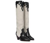 Stiefel Litz aus Leder und Veloursleder