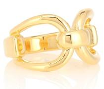 Vergoldeter Ring Horsebit aus Sterlingsilber