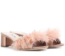 Verzierte Sandaletten aus Satin