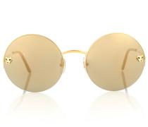 Runde Sonnenbrille Panthère de Cartier