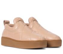 Sneakers Slip On aus Leder