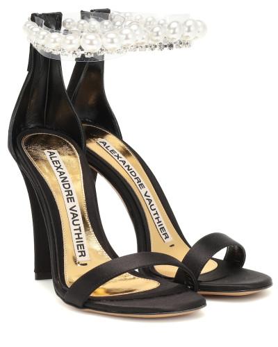 Verzierte Sandalen Roro aus Satin