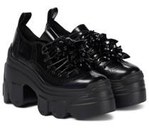 Verzierte Ankle Boots mit Plateausohle