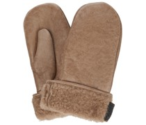 Handschuhe aus Leder mit Shearling