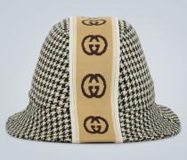 Gemusterter Hut mit Logo-Borte