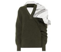 Pullover aus Wolle und Tüll