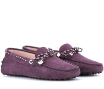 Loafers Heaven Laccetto Scooby Doo aus Veloursleder