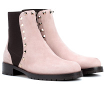 Garavani Rockstud Ankle Boots aus Veloursleder