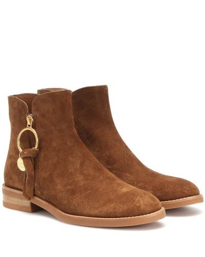 Ankle Boots Louise aus Veloursleder
