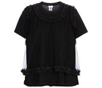 T-Shirt aus Baumwolle und Tüll
