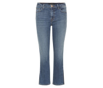 Mid-Rise Cropped Flared Jeans Selena