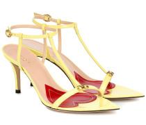 Sandalen Pointed 75 aus Lackleder