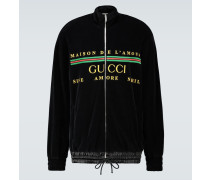 Oversize-Jacke aus Baumwoll-Chenille