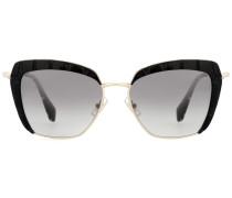 Cat-Eye-Sonnenbrille mit geprägtem Rahmen