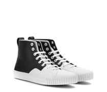 High-Top-Sneakers Young aus Leder