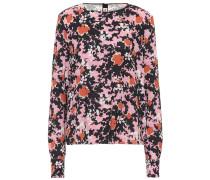 Bedruckte Bluse aus Sablé