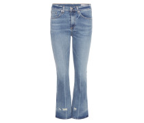 Flared Jeans in Cropped-Länge