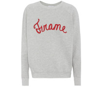 Embroidered cotton-jersey sweater